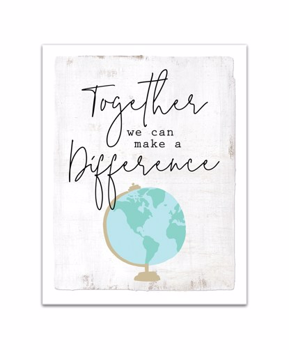 Picture of Together We Can Make a Difference 11x14 Canvas Wall Art
