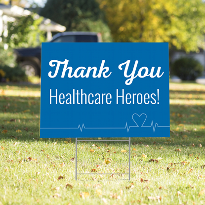 Picture of Healthcare Heroes Yard Sign