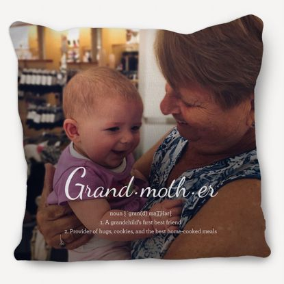 Picture of Definition of Grandma Pillow with Custom Image
