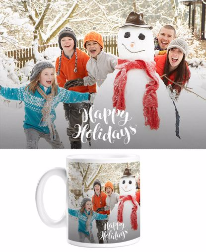Picture of Happy Holidays Mug with Custom Image