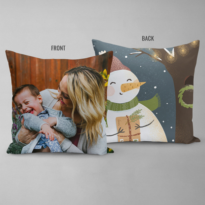 Snowman's Letter Double Sided Pillow