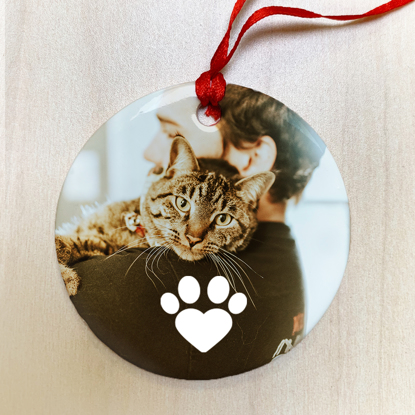 Paw Heart Ceramic Ornament