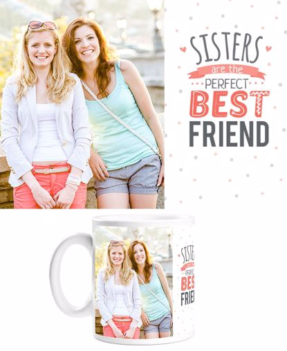 Picture of Custom Sisters Mug with Personalized Image