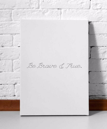 Picture of Brave and True Canvas