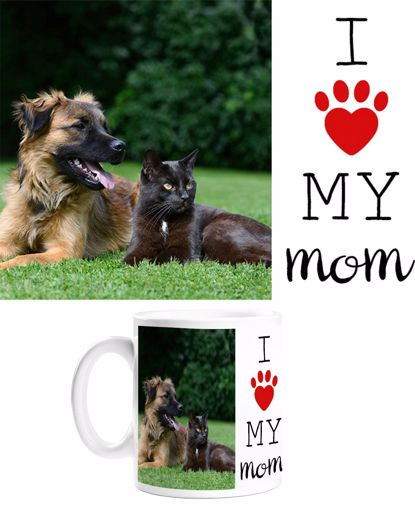 Picture of I Heart My Mom Paw Mug
