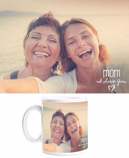 Picture of I Love You Mom Mug with Custom Image