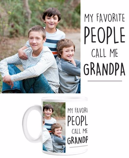 Picture of My Favorite People Call Me Grandpa Mug with Custom Image
