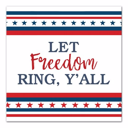 Picture of Let Freedom Ring Y'all 14x14 Canvas Wall Art