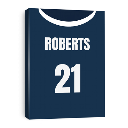 Picture of Personalized Sports Jersey Canvas 11x14