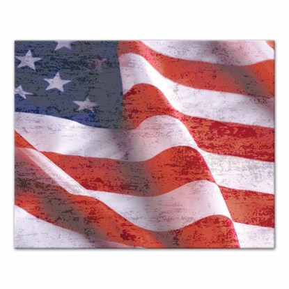 Picture of Distressed American Flag 16x20 Canvas Wall Art