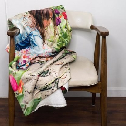 Blanket over chair