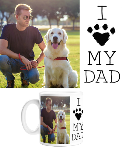 Picture of I Heart My Dad Paw Mug