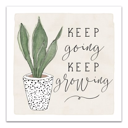 Picture of Keeping Going Keep Growing 14x14 Canvas Wall Art