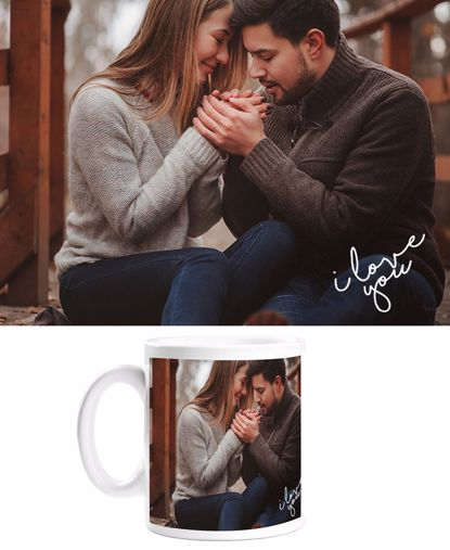 Picture of Custom I Love You Mug with Personalized Image