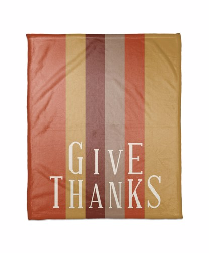 Picture of Give Thanks Stripes Blanket