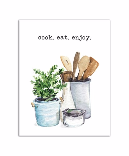 Picture of Cook Eat Enjoy Plant 11x14 Canvas Wall Art