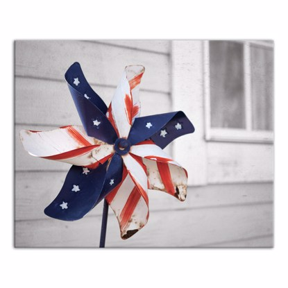 Picture of Old Patriotic Pinwheel 16x20 Canvas Wall Art