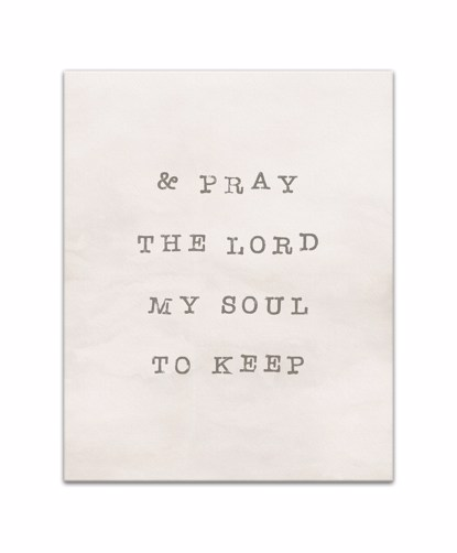 Picture of And Pray The Lord My Soul To Keep 16x20 Canvas Wall Art
