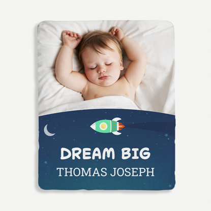 Dream Big Personalized Blanket