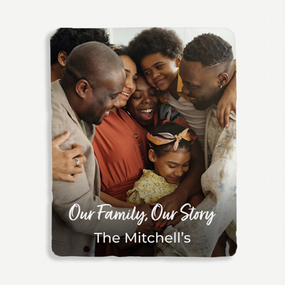 Our Family Our Story Personalized Blanket