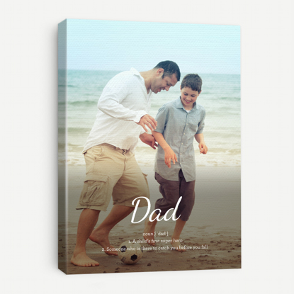 Picture of Definition of Dad Canvas with Custom Images - 11x14
