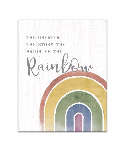Picture of The Greater the Storm the Brighter the Rainbow 11x14 Canvas Wall Art