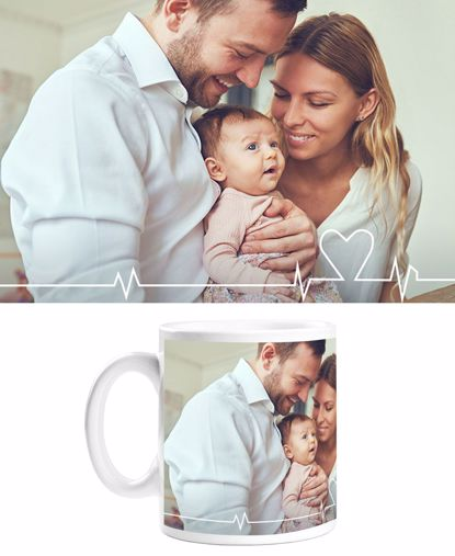 Picture of Heartbeat Mug with Custom Image