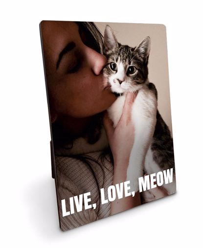 Picture of Live, Love, Meow Plaque