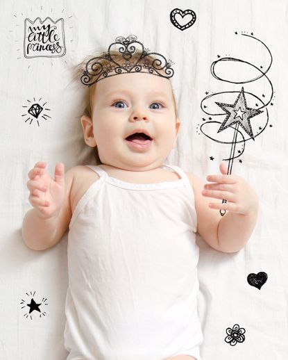 Picture of Baby Doodle Canvas - Princess 11x14