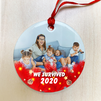 We Survived 2020 Ceramic Ornament