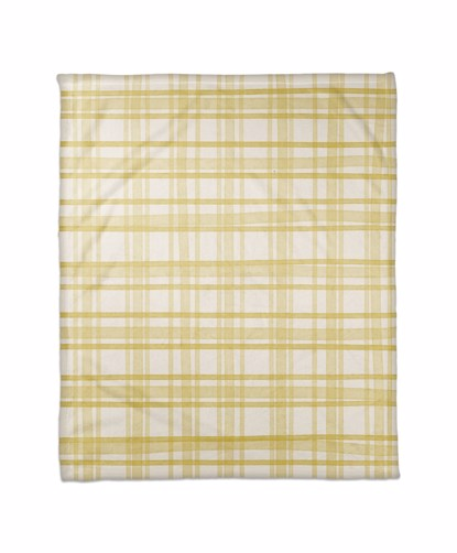 Picture of Handdrawn Gold Plaid Blanket