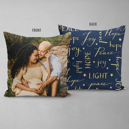 Joy Love Peace Double Sided Pillow
