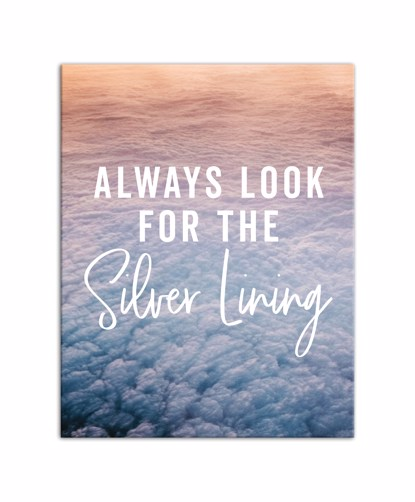 Picture of Always Look For the Silver Lining 11x14 Canvas Wall Art