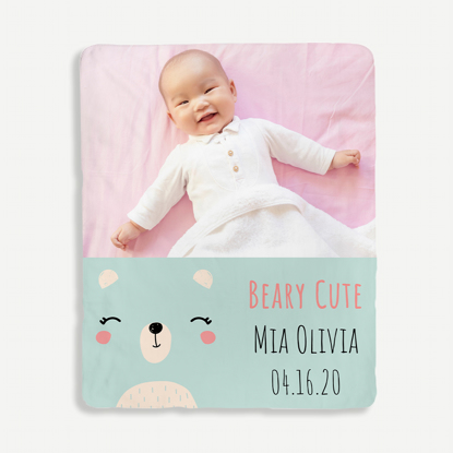 Beary Cute Personalized Blanket