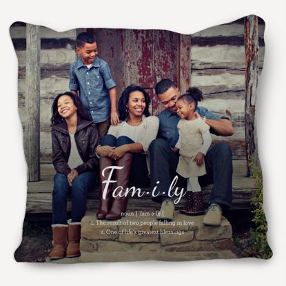 Picture of Definition of Family Pillow