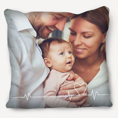 Picture of Heartbeat Pillow with Custom Image