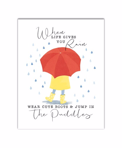 Picture of When Life Gives You Rain 11x14 Canvas Wall Art