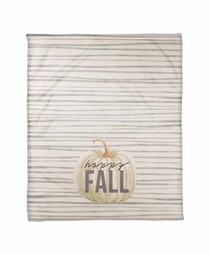Picture of Happy Fall Gray Stripes Pattern Blanket