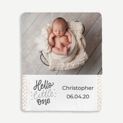 Hello Little One Personalized Blanket