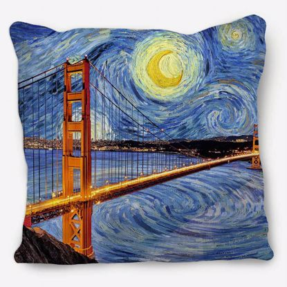 Picture of Starry Night San Fran Pillow
