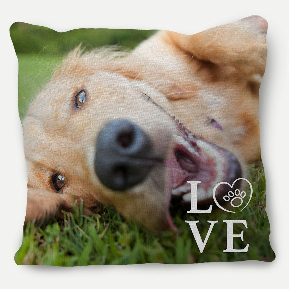 Picture of I Love My Dog Pillow with Custom Image